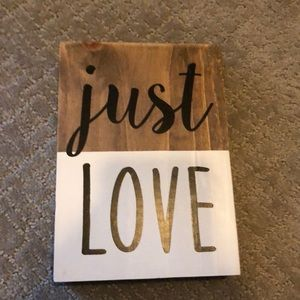 🖤Just Love ❤️ Sign